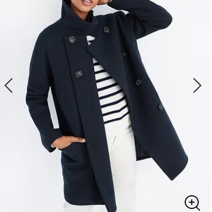Madewell Double Breasted City Grid Cocoon Coat